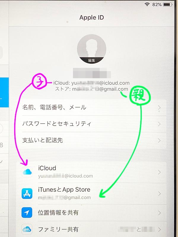 iCloudとストアのApple IDを分ける
